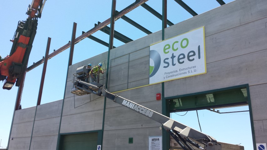 Proyecto de construcción realizado por la empresa ecosteel