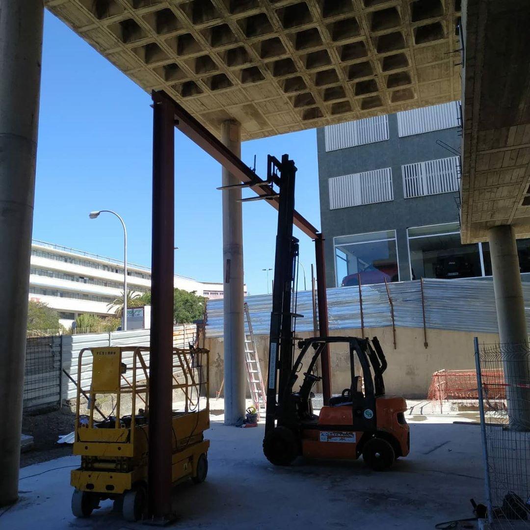 construcción centro comercial satélite tenerife