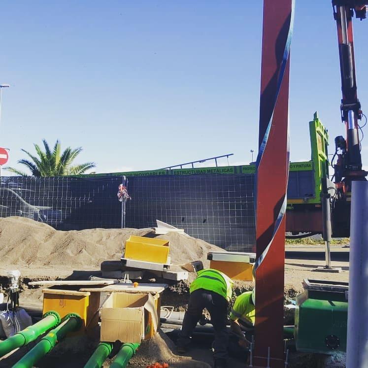 construcción gasolinera