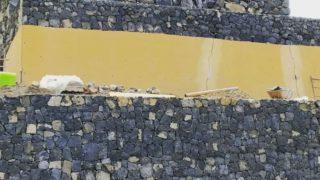 contención de muros obra civil
